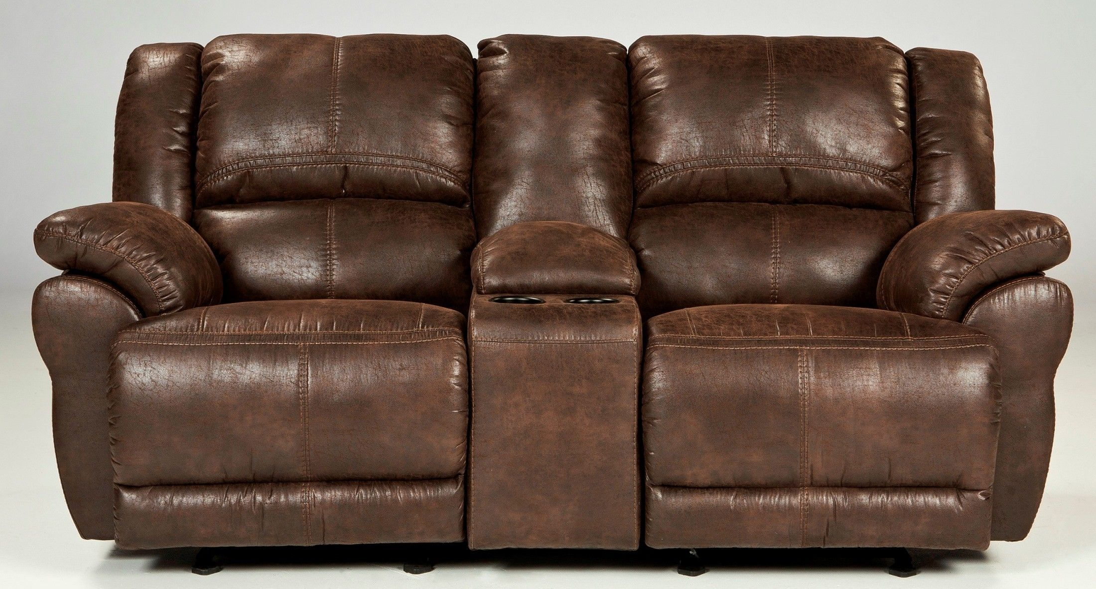 Ashley Furniture Love Seat Sectional Sofa With Recliner Power Reclining Loveseat