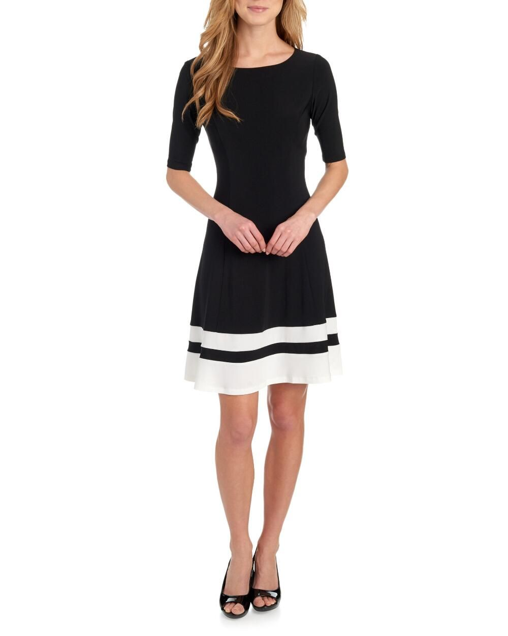 a15afc61396 Darrow Elbow Sleeve Fit and Flare Dress-Dresses-Clothing-Women