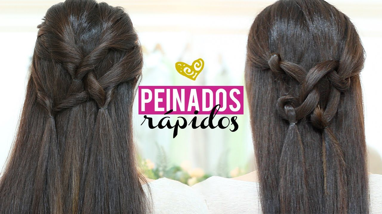 Sencillo y bonito peinados rapidos Imagen de cortes de pelo consejos - Peinados rápidos y bonitos con gomas | Peinados rapidos y ...