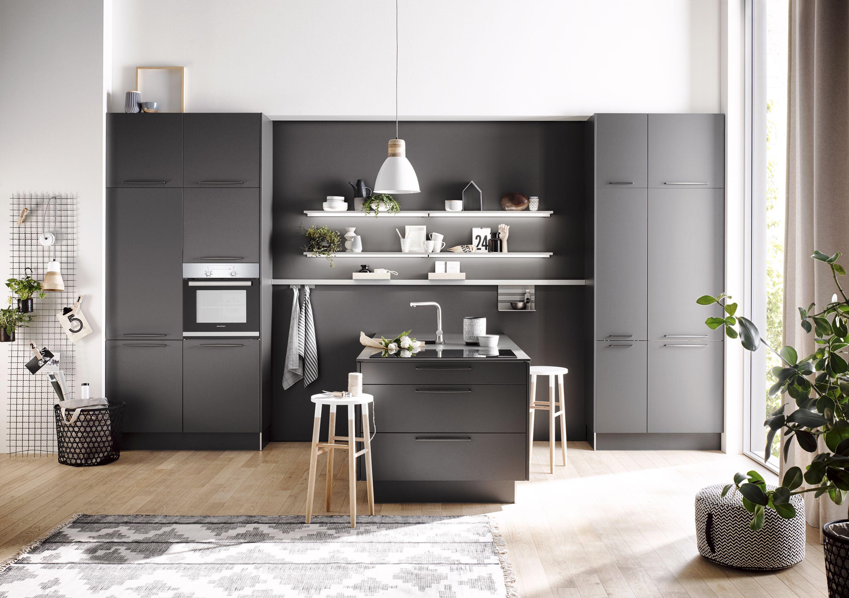 Küchenideen ganz in schwarz Häcker küchen, Schwarze