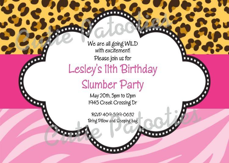 Pink Leopard Print Birthday Party Invitations Free Printable Birthday Invitations Print Birthday Invitations Printable Birthday Invitations