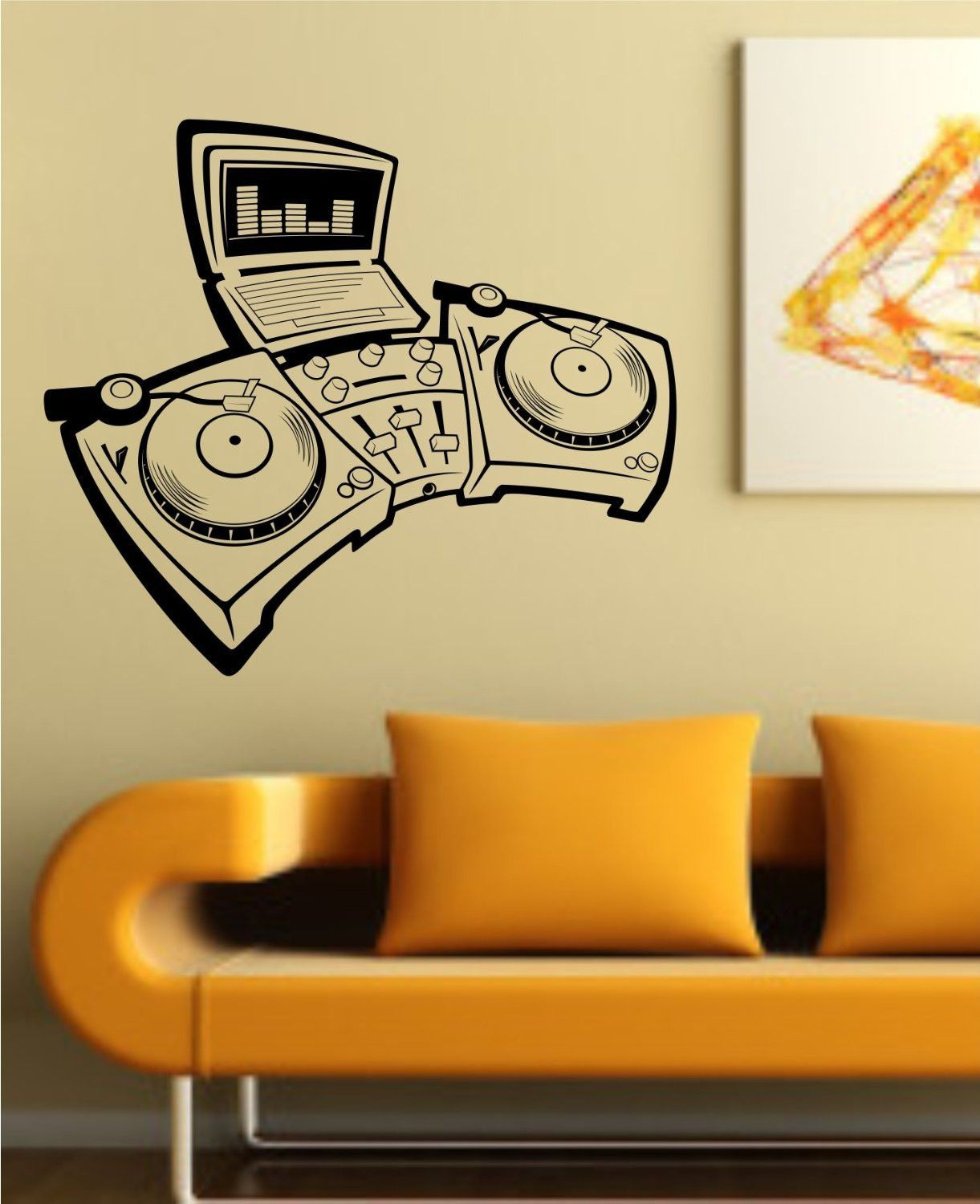 Turntables Design Decal Sticker Wall Instrument Cool Modern ...