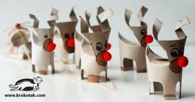 Rotoli Di Carta Igienica Lavoretti Natale : Lavoretti di natale renne natale rotoli di carta igienica