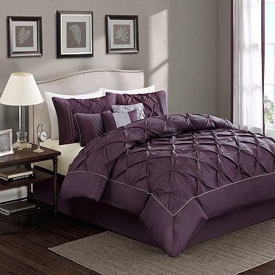 Sophia 7 Pc Comforter Set King Maleta Plum Bedding