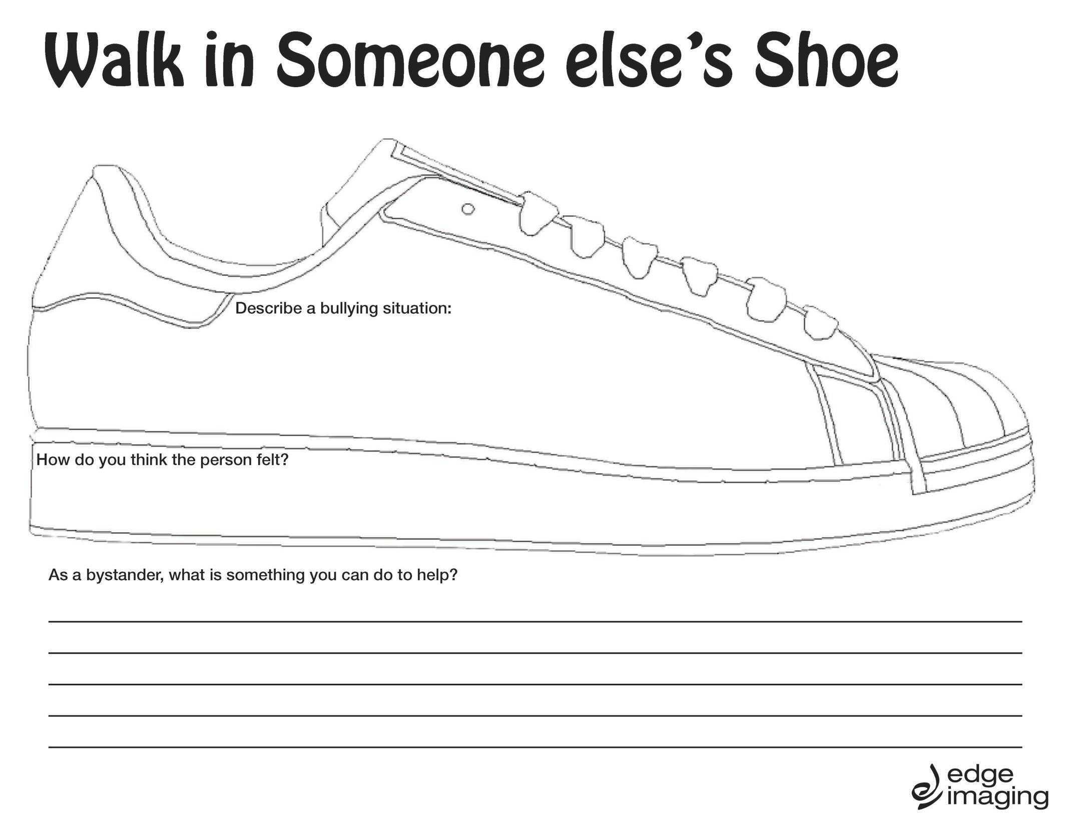 Walk In Someone Elses Shoe Worksheet