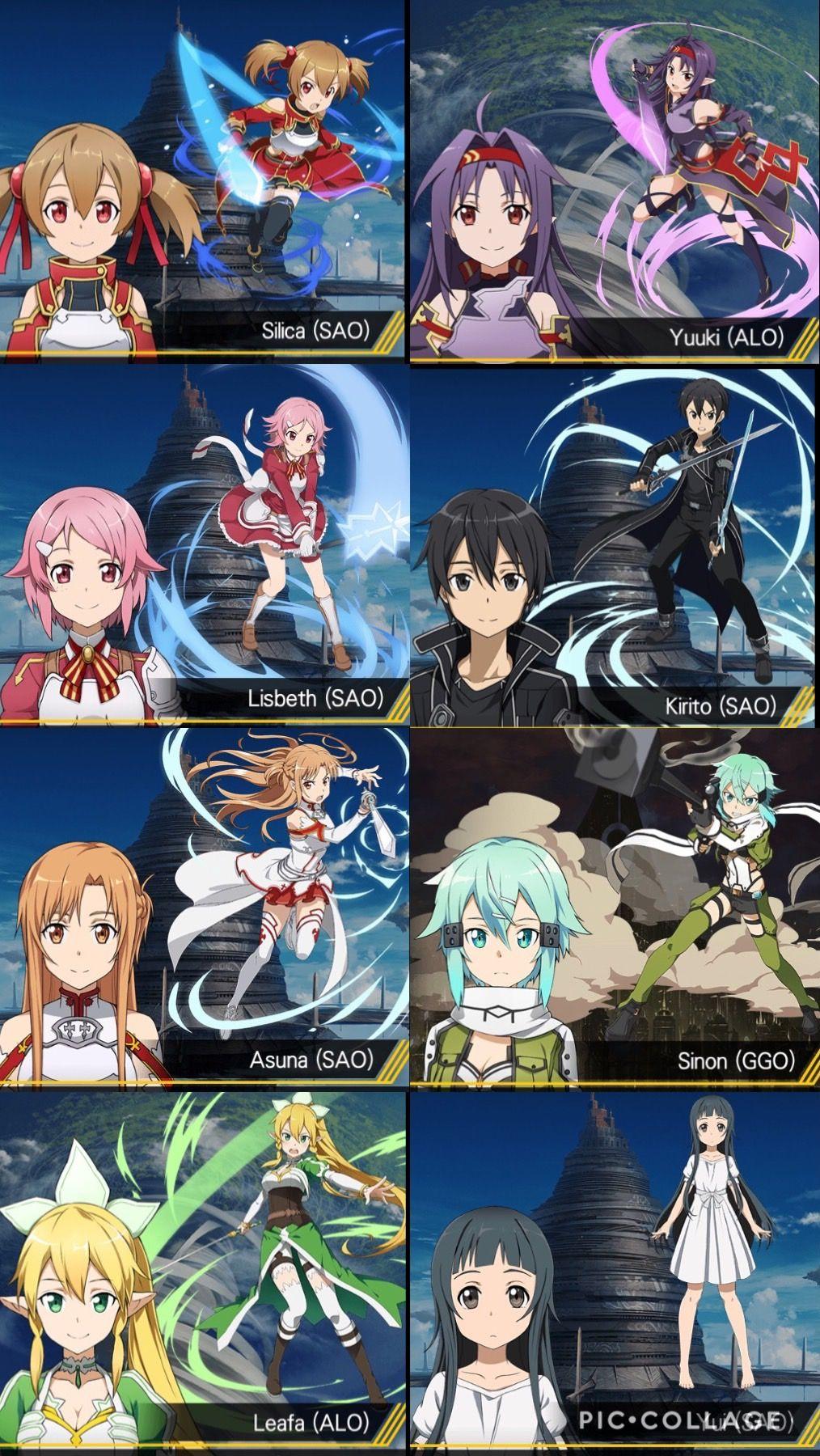 Sword art online characters | Sword art online | Sword art online