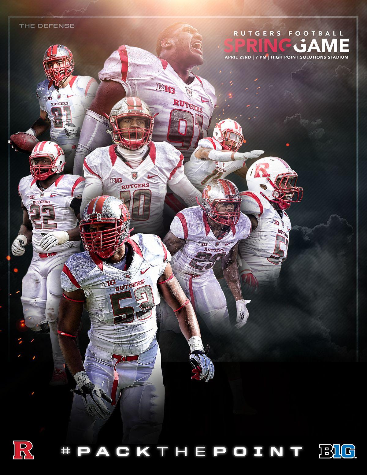 Rutgers Fb Spring Game Promo On Behance Spring Football Spring Games Rutgers Football