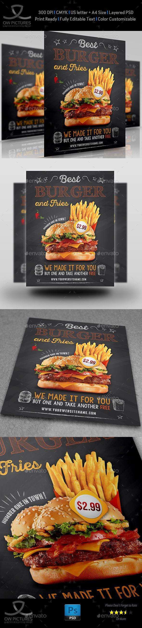 Burger Restaurant Flyer Template Vol  Restaurant Flyers  Flyer
