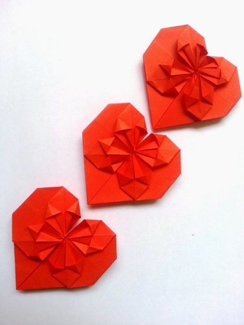 Orgami Heart Crafts 3d Origami Heart Tutorial Bag N Craft