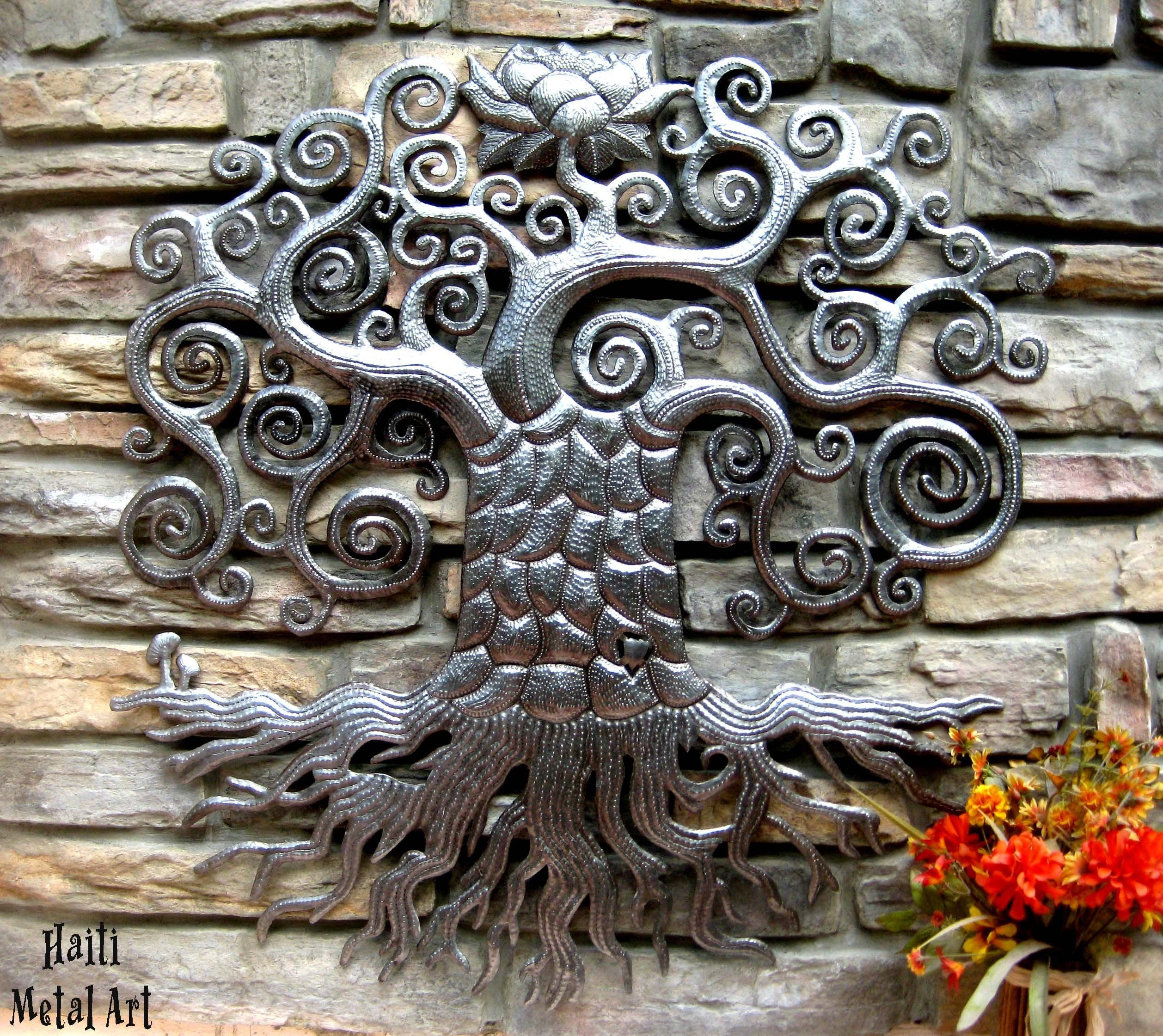 Metal tree of life metal art wall hanging tree art metal