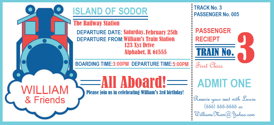 Surprise Party Invitations Wedding Plan Ideas Train Birthday - Party invitation template: train party invitations templates