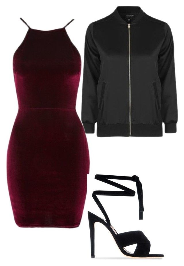 """Saturday"" by andymalikfoster ❤ liked on Polyvore featuring Topshop, Oh My Love and Gianvito Rossi"