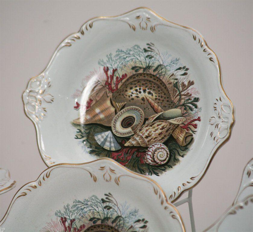 19th C. English Dessert Set With Shells 8