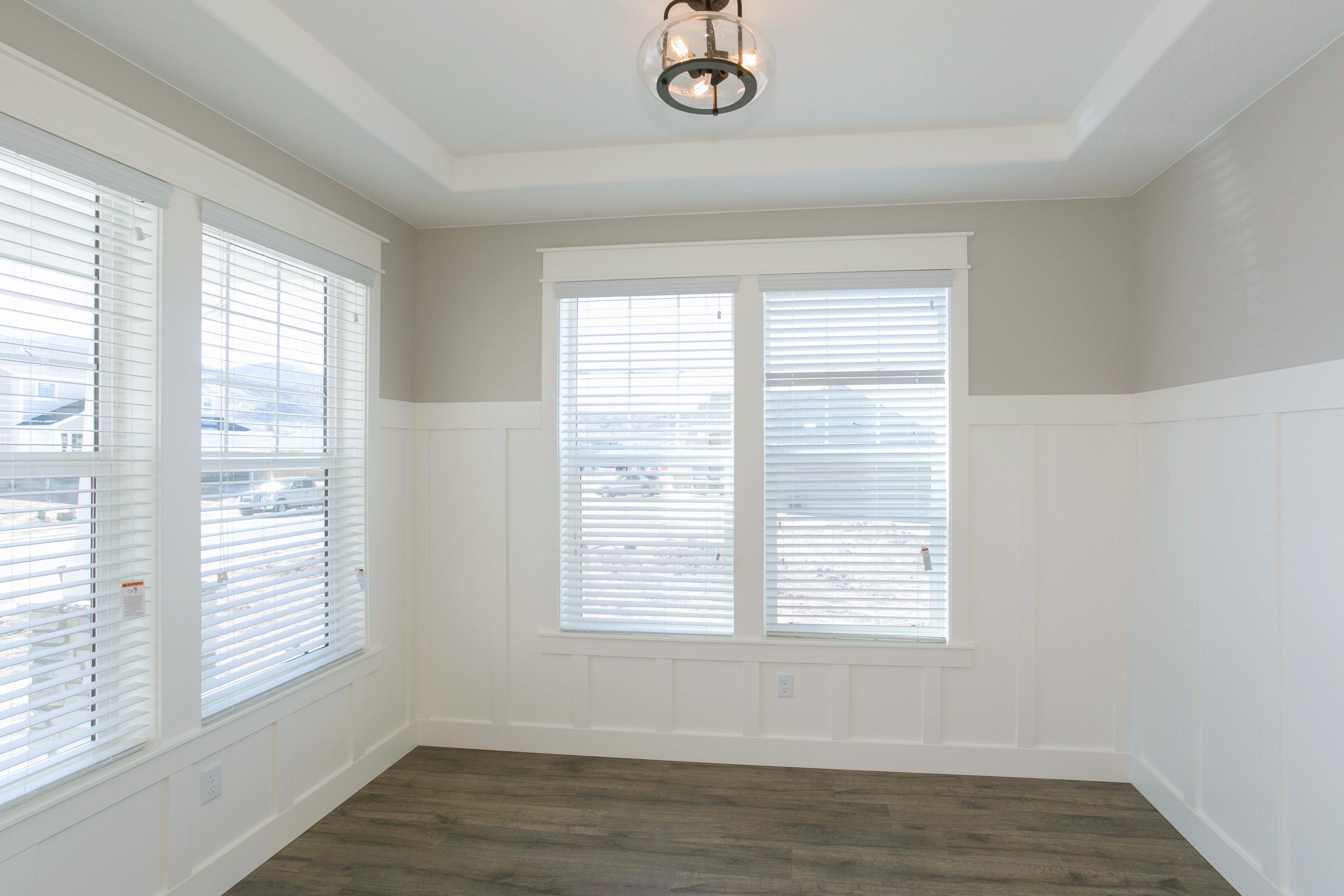 Kitchen window molding  arive homes  board u batten wall treatment arivehomes