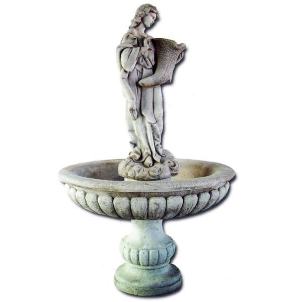 fontaine en pierre vasque femme et corne abondance fontaines en pierre. Black Bedroom Furniture Sets. Home Design Ideas