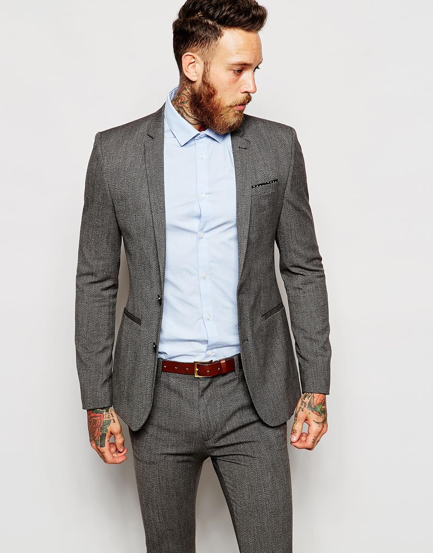 ASOS Super Skinny Suit Jacket in Multi | suits | Pinterest | ASOS