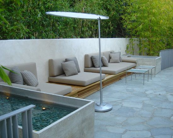 Wondrous Luxurious Theme for Showing Residence Design : Stunning Contemporary Patio Design With Modern Furniture Hollywood Hills Residence