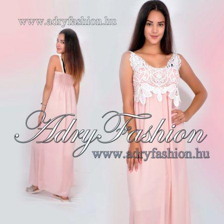 22a3304fa0 Elegáns alkalmi női ruha púder - fehér csipkés | RUHA | Prom dresses ...