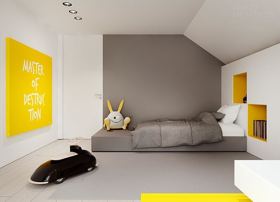Kleuren Slaapkamer Jeugd : Tamizo architects interior house 08. kids pinterest
