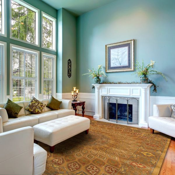 Home Staging Trends: Hand-tufted Wool Gold Traditional Oriental Gombad Rug