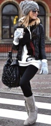 50 Winter Outfits to Copy Right Now - Street Style - Leggings - Boots