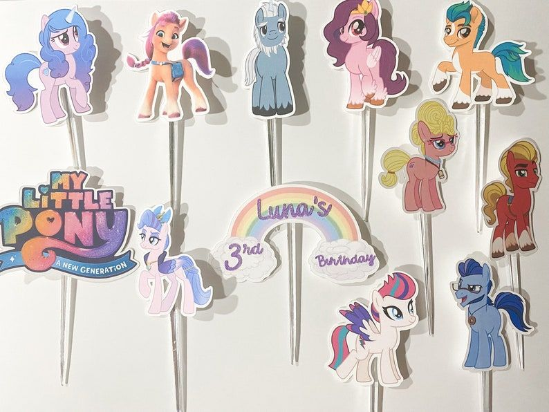 My Little Pony Cupcake Toppers My Little Pony A New   Etsy
