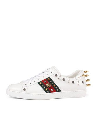 ebb904ccbd9 New+Ace+Studded+Leather+Low-Top+Sneaker+by+Gucci+at+Neiman+Marcus ...