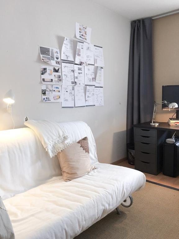 eine deko idee f r die wg zimmer flei iger studenten die freie wand nutzen und lernmaterial. Black Bedroom Furniture Sets. Home Design Ideas
