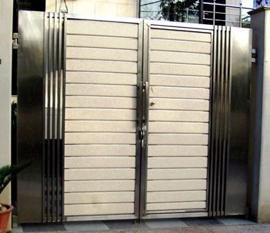 Manufacturers of highly durable stainless steel main gates for Single gate designs for homes