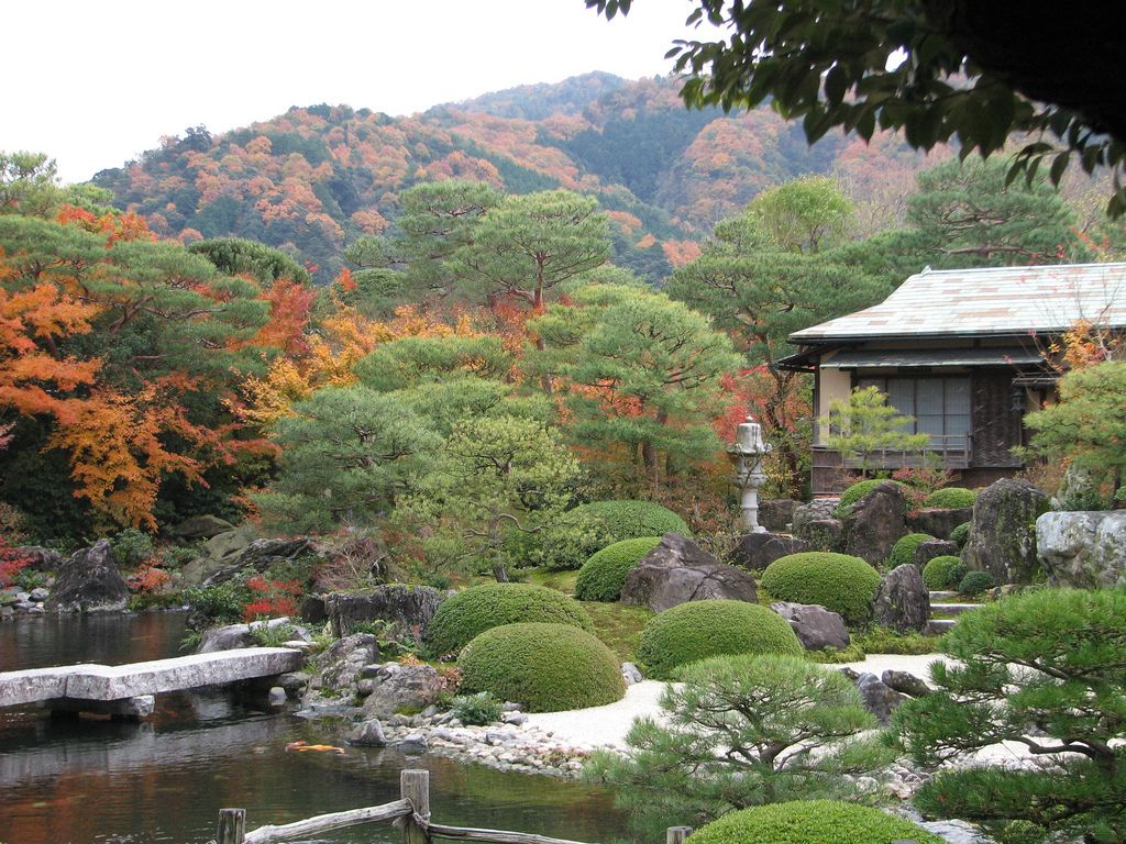 JAPAN: Japanese garden in Yasugi, Shimane, Japan https://www.
