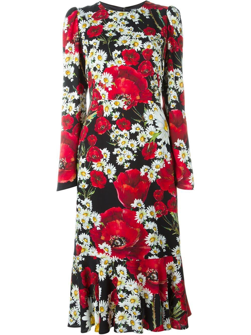 07ca2f97a Dolce & Gabbana Vestido floral | Fashion in 2019 | Vestidos, Vestido ...