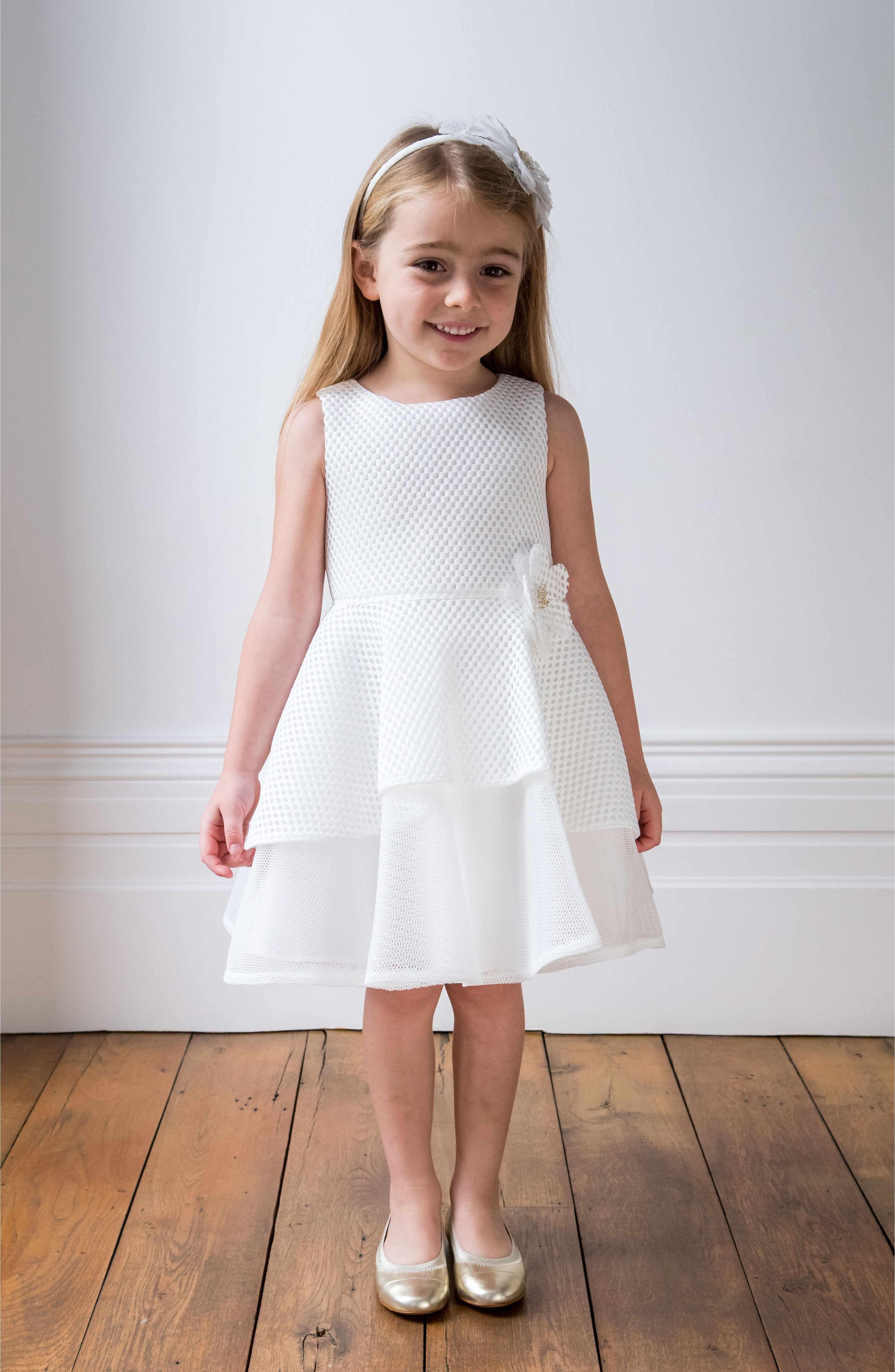 521d3bda663 Main Image - David Charles Techno Mesh Fit   Flare Dress (Toddler Girls