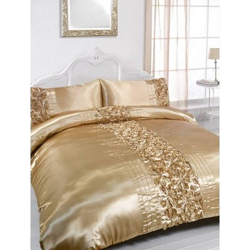rita gold embellished king size duvet u0026 pillowcase bedding set