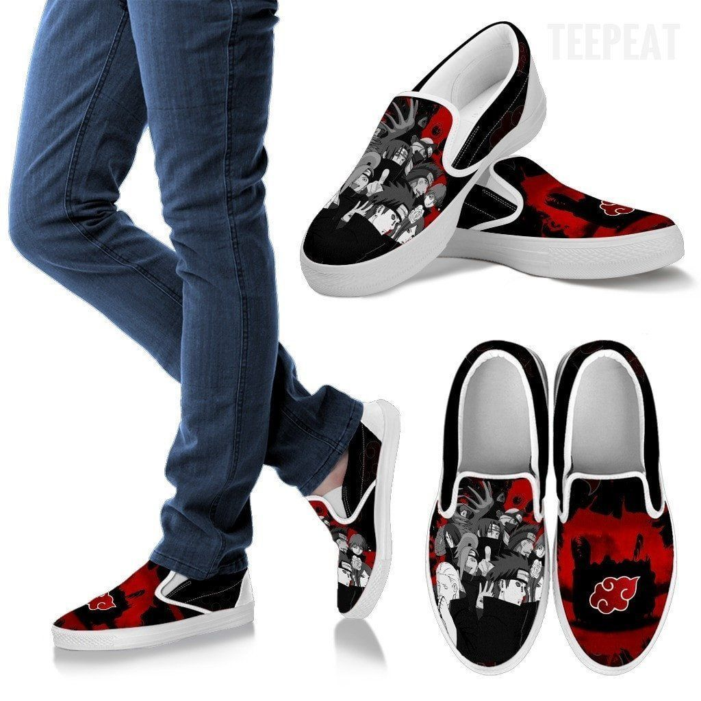 Rebotar lanzamiento éxtasis  Akatsuki Members Slip-On Canvas Shoes | Canvas shoes, Slip on, Vans classic  slip on sneaker
