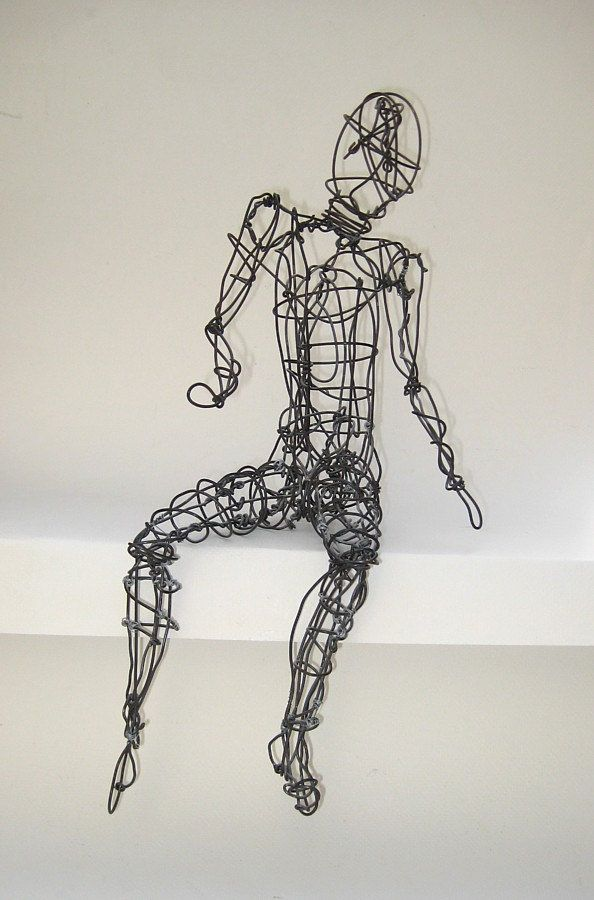 Twisted Wire Sculpture - Human Figure - Seated | Ap studio art, Art ...