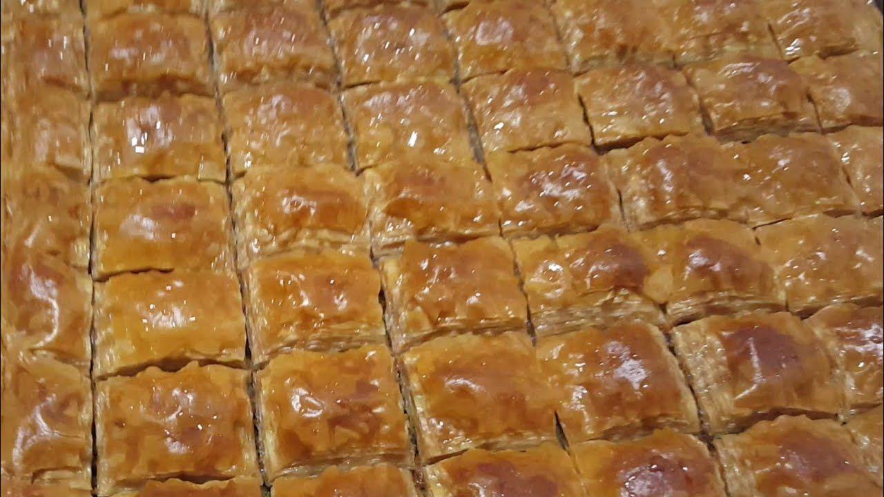 طريقة عمل البقلاوه السورية في المنزل نفس محل الحلويات Youtube Baklava Arabic Food Cooking Recipes