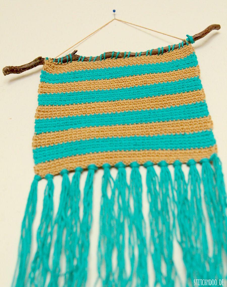 stitchydoo: Gehäkelter Wandteppich | crochet wallhanging