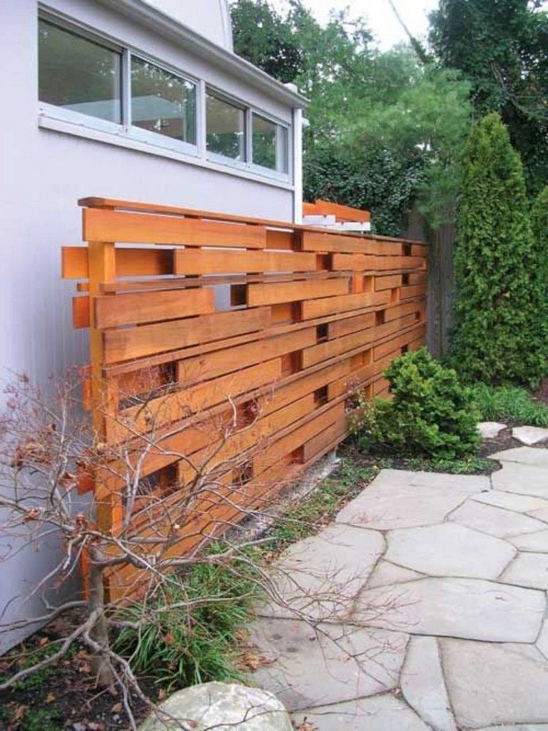 102 Marvelous Modern Front Yard Privacy Fences Ideas Wood Fence