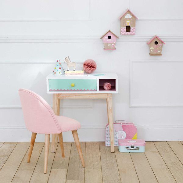 chaise enfant vintage rose et bouleau massif kids rooms room and pastel room. Black Bedroom Furniture Sets. Home Design Ideas
