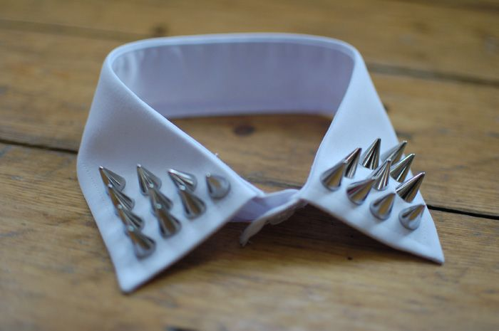 DIY...studded collar by queen michelle of kingdom of style