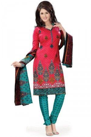 Designer Casual Printed Cotton Salwar Kameez[HD_Goal_213]