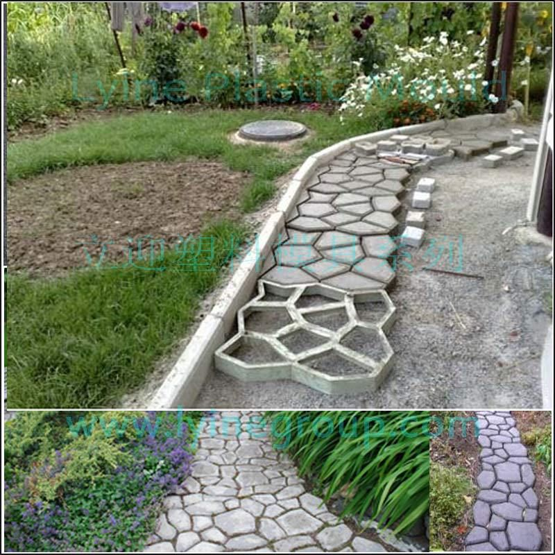 Plastomer Pavement Stone Mould DIY Your Garden And Pave Ways Art Of  Archaize Brick Mold Plastic Shi Mo Cement Concrete Floor