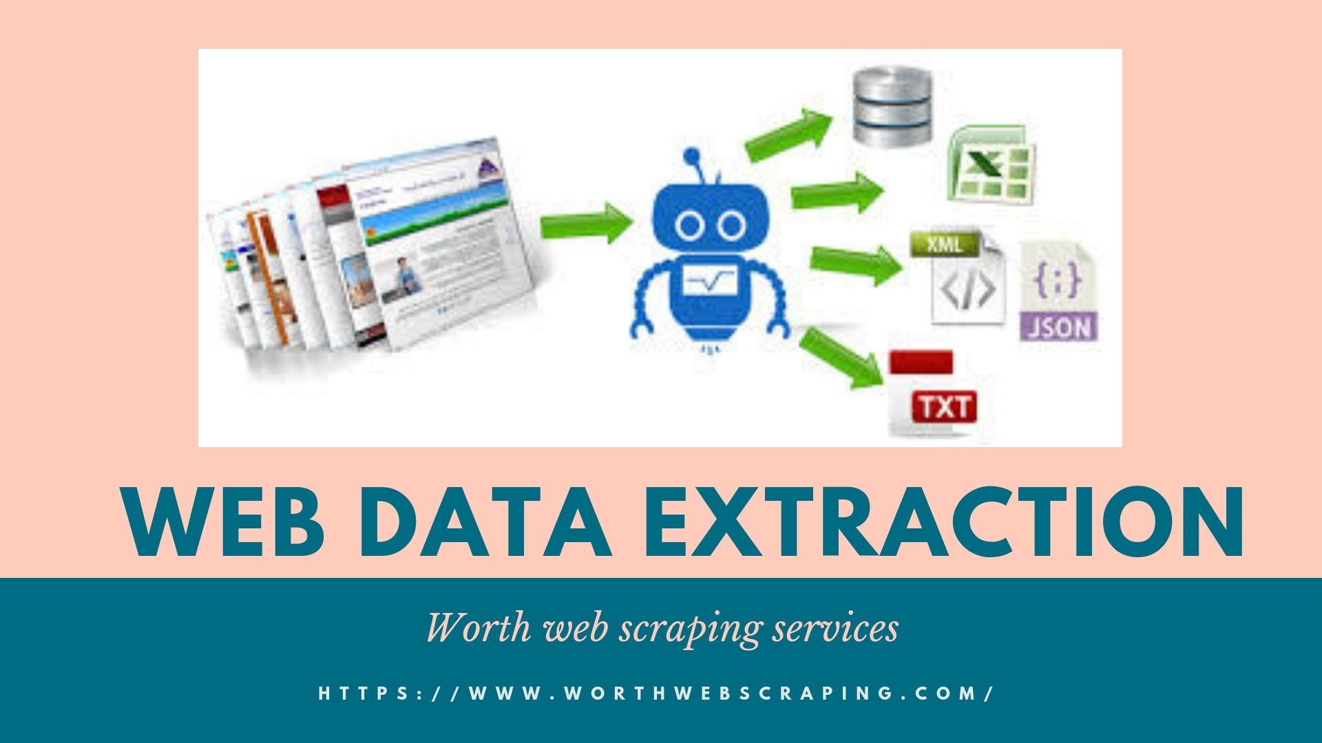 Web data extraction services to extract data from web pages