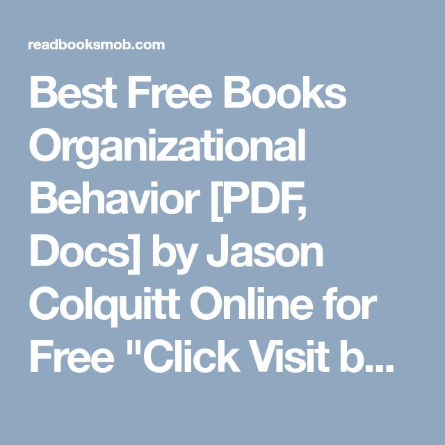 Best free books organizational behavior pdf docs by jason best free books organizational behavior pdf docs by jason colquitt online for free fandeluxe Gallery