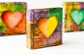 Image result for mixed media wood block