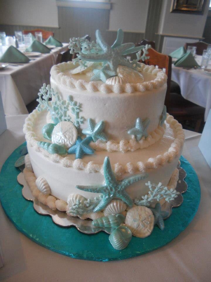 Seashell Bridal Shower Cake Beach Wedding Cake Beach Theme