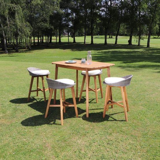 Salon de jardin haut en bois d\'acacia 4 places en 2019 ...