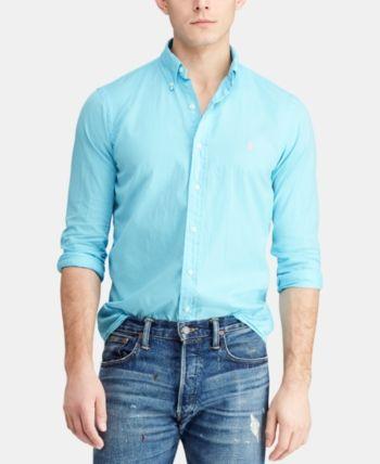607524fe Polo Ralph Lauren Men Slim Fit Garment-Dyed Twill Shirt in 2019 ...