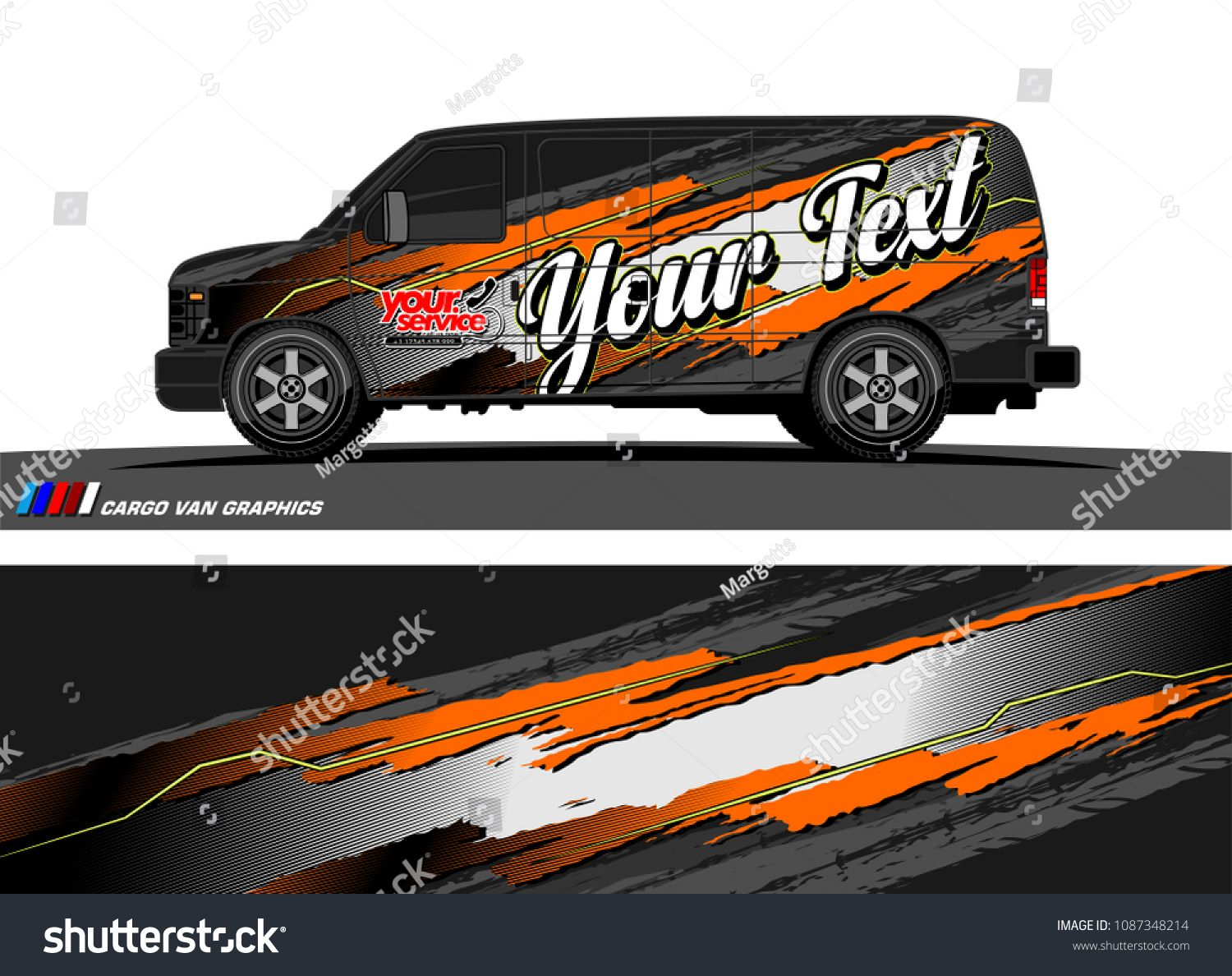 car wrap design vector  abstract splatter with grunge background for vehicle branding