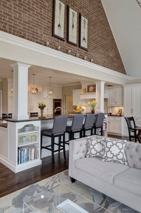 Kitchen Overlooking Living Room Dining Area Home Home Decor Home Remodeling